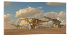 Alu-Dibond  A herd of Argentinosaurus dinosaurs - Corey Ford