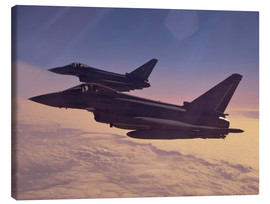 Canvas print  German Eurofighter Typhoons - Timm Ziegenthaler