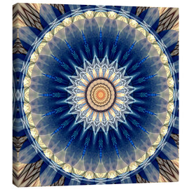 Canvas print  Mandala blue - Christine Bässler