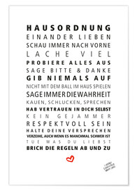 Premium poster House Rules (German)