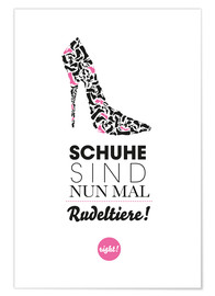 Premium poster Schuhe / Shoes (German)