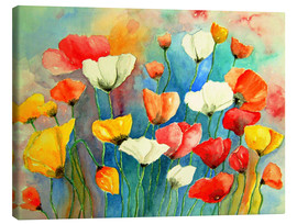 Canvas  Colorful poppy - siegfried2838