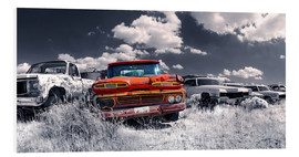 Foam board print  Route66 - car dump - Michael Rucker