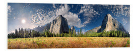 Foam board print  Yosemite Valley El Capitan - Michael Rucker