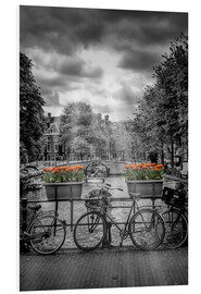 Foam board print  Typical Amsterdam II - Melanie Viola