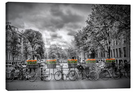 Canvas print  Typical Amsterdam - Melanie Viola