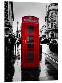 Acrylic glass  Red telephone booth in London - Edith Albuschat