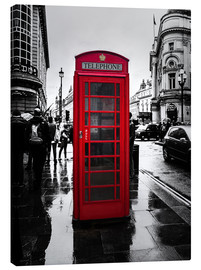 Canvas print  Red telephone booth in London - Edith Albuschat