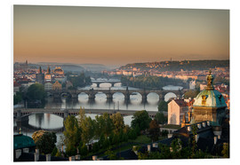 Foam board print  Prague Sunrise - Markus Kapferer