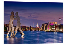 Foam board print  Skyline Berlin - Molecule Man - Marcus Klepper