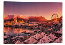 Wood print  Victoria & Alfred Waterfront, Cape Town, South Africa - Stefan Becker