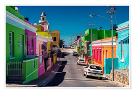 Premium poster Bo Kaap, Cape Town, South Africa