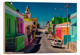 Wood print  Bo Kaap, Cape Town, South Africa - Stefan Becker