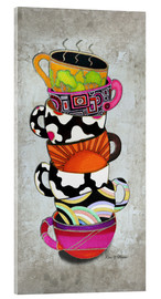 Acrylic glass  Stacked Hot Cuppa Collection 1 - Megan Duncanson