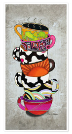 Premium poster  Stacked Hot Cuppa Collection 1 - Megan Duncanson