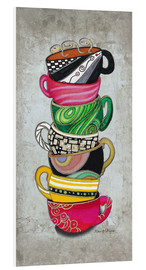 Foam board print  Stacked Hot Cuppa Collection 2 - Megan Duncanson