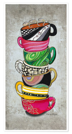 Premium poster  Stacked Hot Cuppa Collection 2 - Megan Duncanson