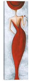 Canvas print  Lady in red - Megan Duncanson