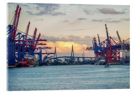 Acrylic print  Container terminal Hamburg Harbour - Dennis Stracke