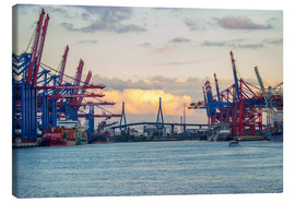 Canvas  Container terminal Hamburg Harbour - Dennis Stracke