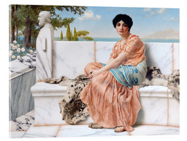 Acrylic glass  In The Days Of Sappho - John William Godward