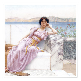 Premium poster  Eighty and eighteen - John William Godward