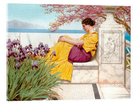 Acrylic print  Under The Blossom That Hangs On The Bough - John William Godward