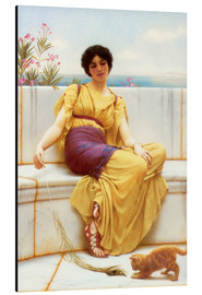Alu-Dibond  Idleness - John William Godward