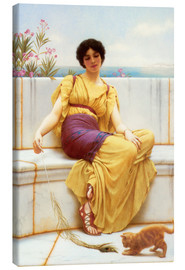Canvas print  Idleness - John William Godward