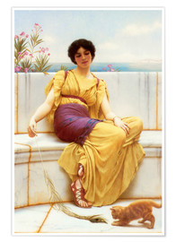 Premium poster  Idleness - John William Godward
