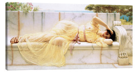 Canvas  Girl in yellow dress - John William Godward