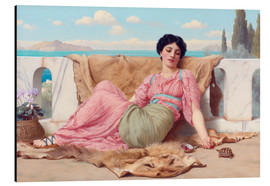 Aluminium print  A Quiet Pet - John William Godward