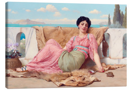Canvas print  A Quiet Pet - John William Godward