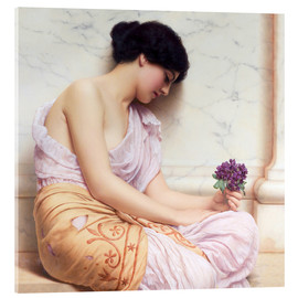 Acrylic glass  Violets, sweet violets - John William Godward