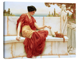 Canvas  The Tease (The Favourite) - John William Godward