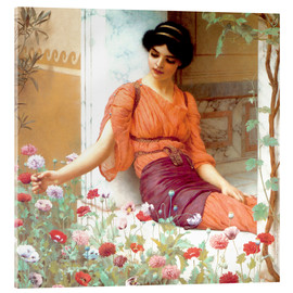 Acrylic print  Summer Flowers - John William Godward