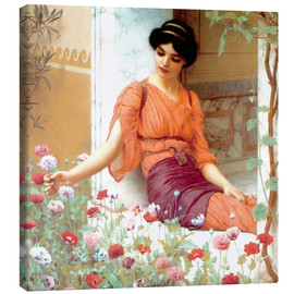 Canvas print  Summer Flowers - John William Godward