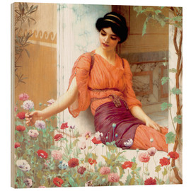 Wood  Summer Flowers - John William Godward