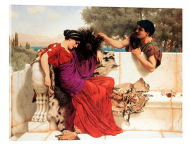 Acrylic print  The Old Old Story - John William Godward