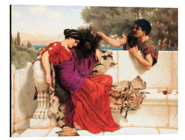 Alu-Dibond  The Old Old Story - John William Godward