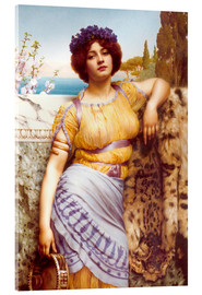 Acrylic glass  Ionian Dancing Girl - John William Godward