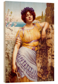 Wood print  Ionian Dancing Girl - John William Godward