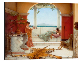 Alu-Dibond  The Sweet Siesta Of A Summer Day - John William Godward