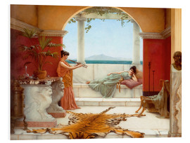 Foam board print  The Sweet Siesta Of A Summer Day - John William Godward
