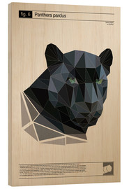 Wood print  fig6 Polygonpanther Poster - Labelizer