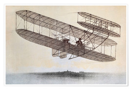 Premium poster  Plane of the Wright brothers
