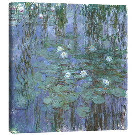 Canvas print  Blue Water Lilies - Claude Monet
