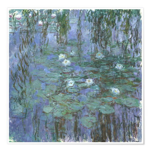 Premium poster Blue Water Lilies