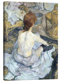 Canvas print  The redhead - Henri de Toulouse-Lautrec