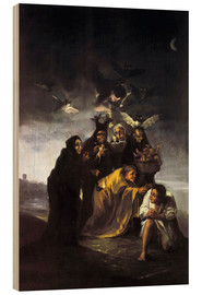 Wood print  The Spell, The Witches - Francisco José de Goya